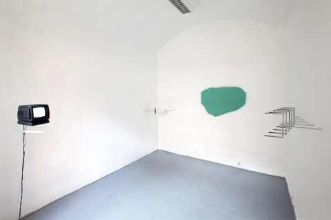 Notes to the Walk, 2011 – with Tereza Velíková; installation view from Gallery Jelení